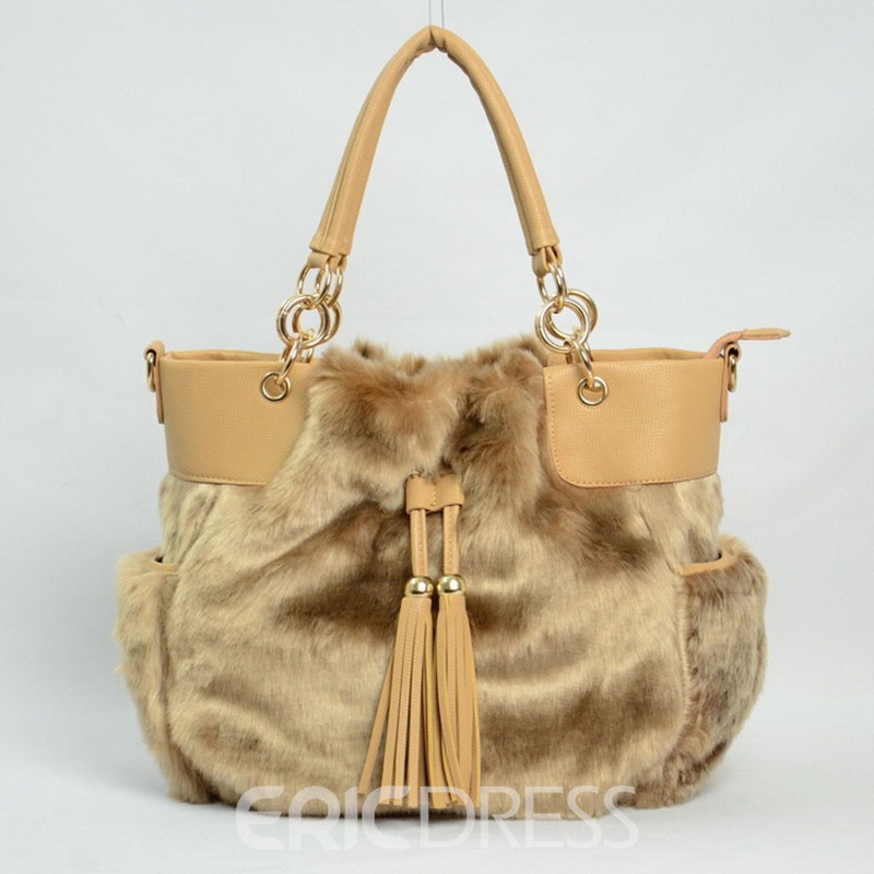 Ericdress Casual Plush Tassel Women Handbag