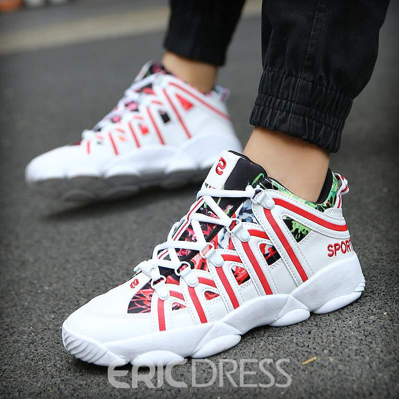 Ericdress Color Block Mid-Cut Men's Athletic Shoes
