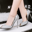 Ericdress Sexy Peep Toe Low-Cut Stiletto Heel Shoes