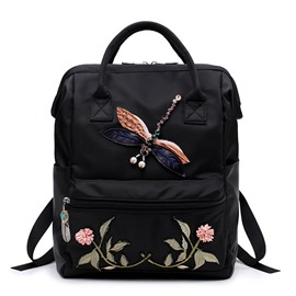 Ericdress Ethnic Style Floral Embroidery Oxford Backpack