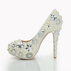 Ericdress Rhinestone Slip-On Plain Wedding Shoes with Beads