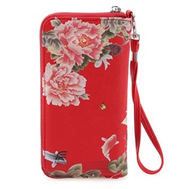 Ericdress Chinese Style 3D Floral Print Purse