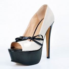 Ericdress Color Block Peep Toe Platform Women's Pumps