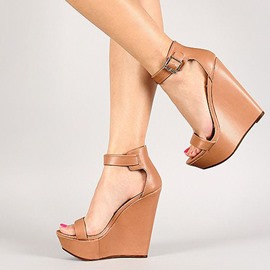 Ericdress Platform Open Toe Wedge Sandals