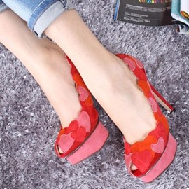 Ericdress Sexy Red Heart-Shaped Platform Pumps