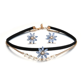 Ericdress Rhinestone Flower Decorated Jewelry Set for Women