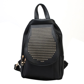 Ericdress Preppy Chic Rievt Adornment Backpack