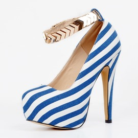 Ericdress Stripe Platform Stiletto Heel Pumps
