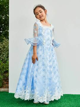 Ericdress Square Half Sleeves Ball Gown Girl Party Dress