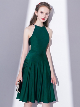 Ericdress A Line Halter Knee Length Short Homecoming Dress