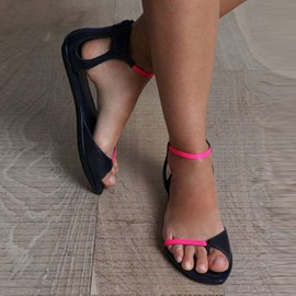 Thong Color Block Flat Sandals