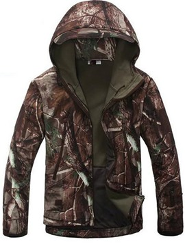Ericdress Waterproof Windproof Warm Camouflage Print Men's Polar Fleece Jacket