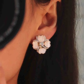 Ericdress Opal Flower Shape Ear Clip for Women