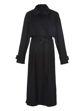 Ericdress lange lace-up doppel-breasted Trenchcoat