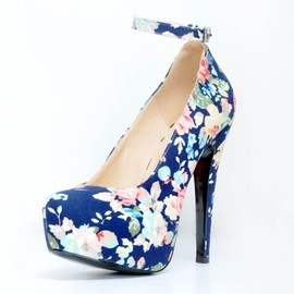 Ericdress Floral Print Stiletto Heel Pumps