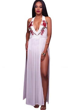Ericdress Embroidery Patchwork Jumpsuits Pants