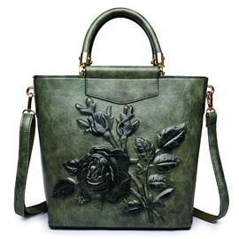 Ericdress Chinese Style 3D Solid Embossing Handbag