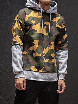 Ericdress Camouflage Patchwork Hip-pop Style Men's Hoodie