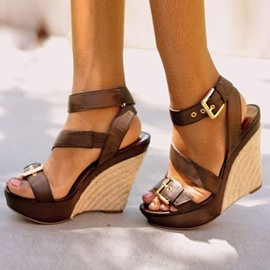 Ericdress Hasp Open Toe Platform Wedge Sandals