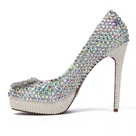Ericdress Rhinestone Low-Cut Plain Wedding Shoes