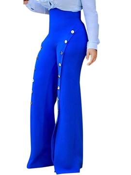 Ericdress High-Waist Button Pants