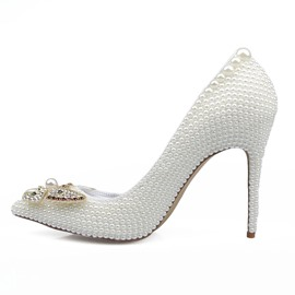 Ericdress Rhinestone Pointed Toe Low-Cut Wedding Shoes