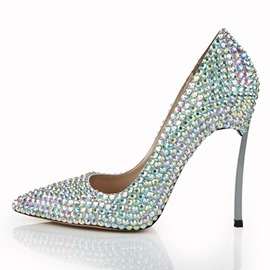 Ericdress Rhinestone Pointed Toe Plain Wedding Shoes