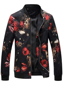 Ericdress Print Slim Vogue Casual Men's Jacket