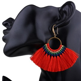 Ericdress Attractive Bohemia Velvet Weaving Women's Earring