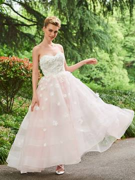 Ericdress Sweetheart Appliques Ankle Length Wedding Dress