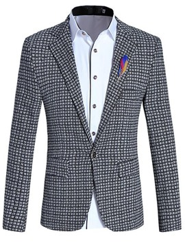 Ericdress One Button Claasic Slim Men's Blazer