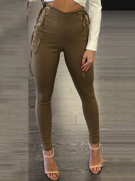 Ericdress Lace-Up High-Waist Leggings Pants