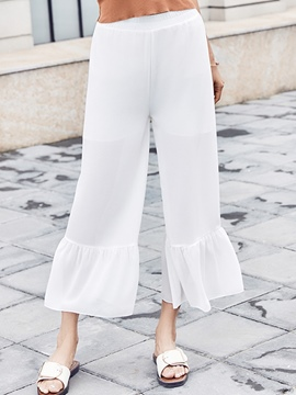 Ericdress High-Waist Ruffles Bellbottoms Pants