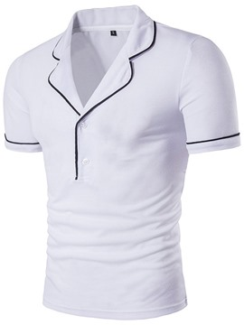 Ericdress Unique Lapel Short Sleeve Men's T-Shirt