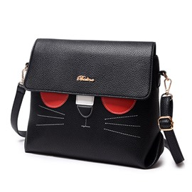 Ericdress Lovely Kittly Pattern Women Crossbody Bag