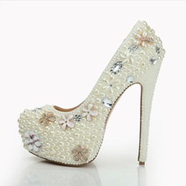Ericdress Rhinestone Platform Plain Stiletto Heel Wedding Shoes