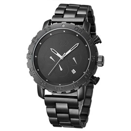 Ericdress Black Three Hands 30M Waterproof Men's Watch