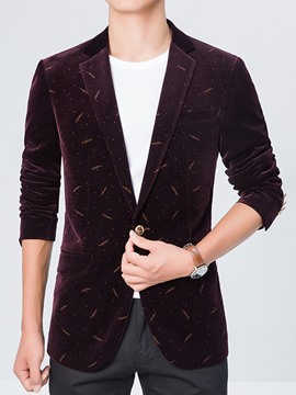Ericdress One Button Corduroy Vogue Slim Men's Blazer