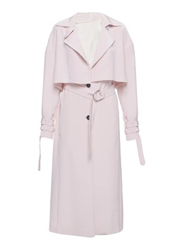 Ericdress Patchwork Belt Single-Breasted Trench Coat