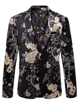 Ericdress Lapel Floral Print Vogue Men's Blazer