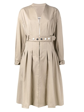 Ericdress Mid-Length Hidden Button Belt Trench Coat