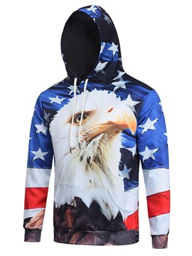 Ericdress Flag Print Unique Casual Men's Hoodie
