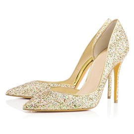 Ericdress Glitter Sequin Slip-On Stiletto Heel Pumps
