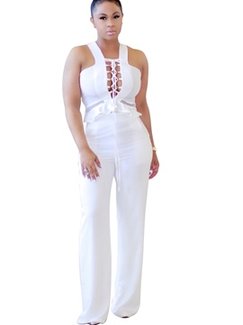 Ericdress Strap Backless Jumpsuits Pants