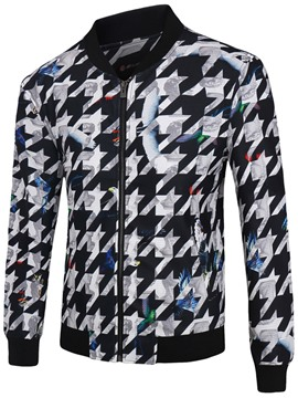 Ericdress Unique Pattern Print Vogue Men's Jacket