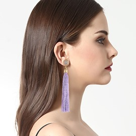 Ericdress Chic Tassel Alloy Diamante All Match Long Earring