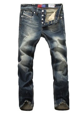 Ericdress Regular Straight Vintage Casual Men's Jeans