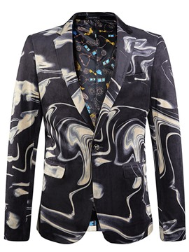 Ericdress Unique Stripe Print Vogue Men's Blazer