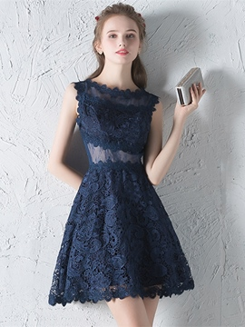 Ericdress A Line Applique Short/Mini Lace Homecoming Dress