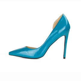 Ericdress Blue Pointed Toe Plain Stiletto Pumps